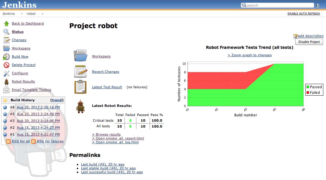 Create Jenkins Job for Robot Framework | Laurent Bristiel